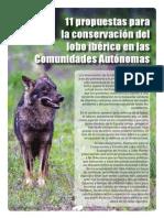 11 propuestas para la conservación del lobo ibérico