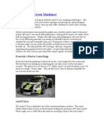 Hot Green {eco friendly) CAR'S & Machines