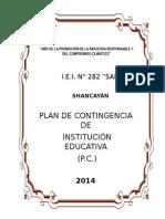 PLAN DE CONTINGENCIA DE LA I.E. 2014 - I.E.I. N° 282 San Juan Bautista.doc