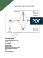 Active Standby Failover Configuration