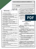 Algeria Télecommunication Loi (2000)