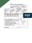 Sample Welding Procedure Specification (WPS) Form