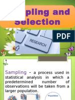 Sampling and Selection in research