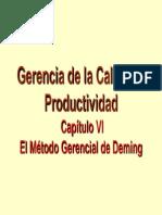 El Metodo Gerencial de Deming Cap Vi