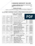 Affliated Colleges IV Semester Time Table