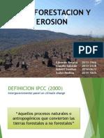 Deforestacion y Erosión
