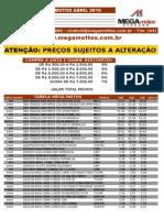 Tabela Mega Mottesteos Abril