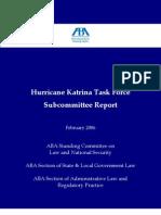 Hurricane Katrina Task Force Subcommittee Report