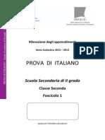 Prova Italiano Superiori 2012 2013