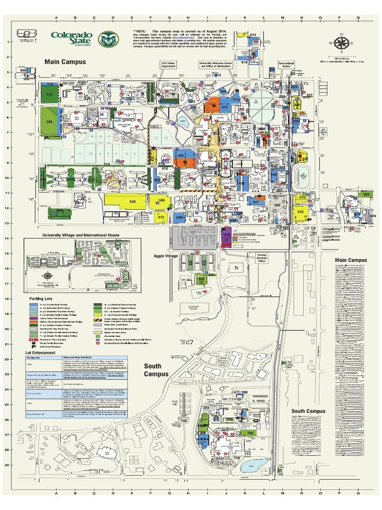 Colorado State University parking map