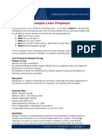 loan proposal sample