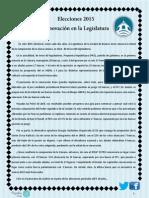Elecciones 2015. Renovación Legislatura porteña