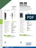 Securitron DK37 Data Sheet