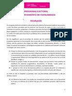 Programa electoral de UPyD Fuenlabrada 2015
