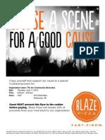 Blaize Fundraising Flyer Kalamazoo