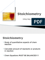 stoichiometry power point