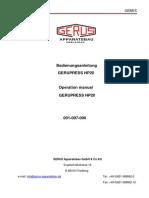 GERUPRESS HP20_001 007 000