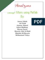 Design filters using Matlab