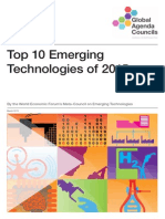 WEF Top10 Emerging Technologies 2015