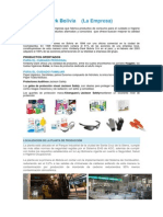 Investigación Empresa Kimberli-Clark Bolivia