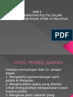 BAB 5 Permuafakatan Politik Diantara Etnik
