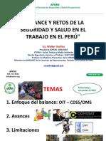 Balances y Retos de La Segurridad y Salud en El Trabajo en El Peru