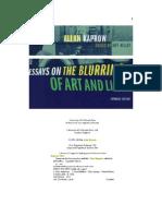 Allan Kaprow - Experimental Art - Essays on Blurring Art and Life