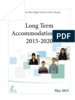 Long Term Accommodation Plan - 2015-2020