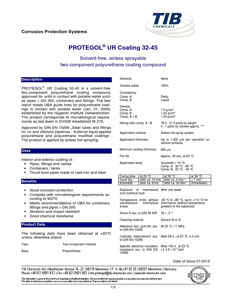 Ti e Protegol 32-45 Jan 12 | Pipe (Fluid Conveyance) | Relative Humidity