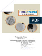 Timesnano Catalogue and Price List