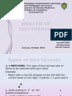 ANALYSIS OF TEST FORMATS- 2013.pptx