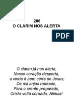 206 - O Clarim Nos Alerta