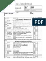 Grid Failure Check List