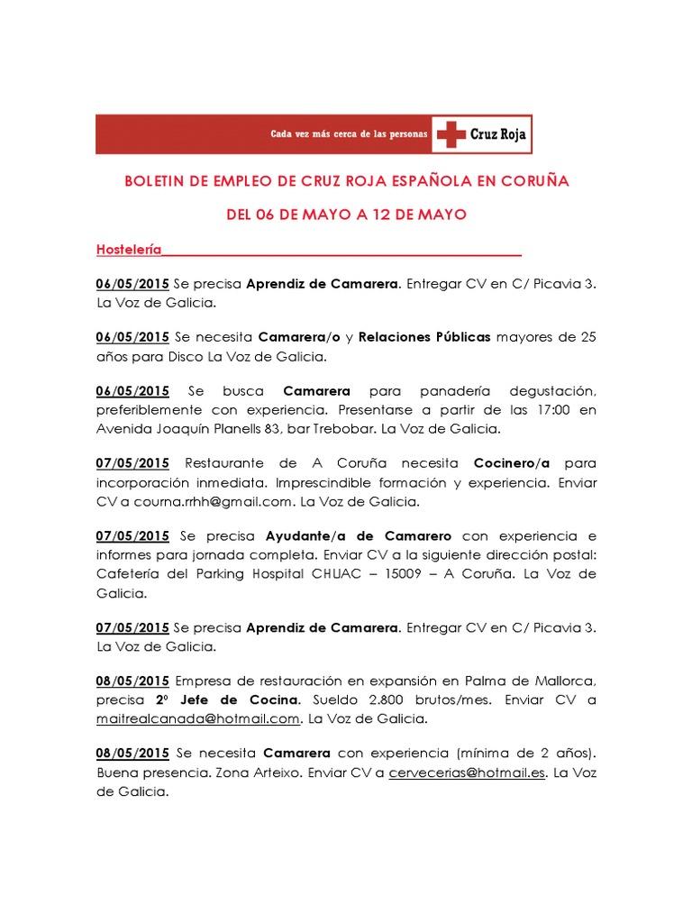Boletin de Empleo 06 de Mayo a 12 de Mayo