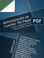 Presentacion Administracion Cuentas por pagar