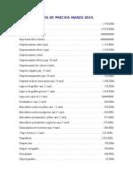 Lista de Precios 2015a