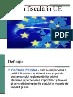 Politica Fiscală În UE