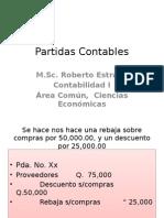 Control de Partidas Contables