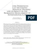 Advancing Indigenous Rights at the United Nations. Strategic Framing and Its Impact on the Normative Development of International Law