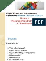 4.1 Procurement