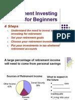how invest retire savings handout