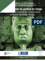 Análisis y plan de gestión de riesgo adaptación ante el impacto del cambio climático del Parque Arqueológico Quiriguá