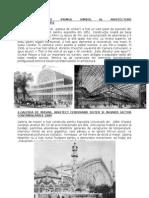 Istoria Arhitecturii Contemporane I
