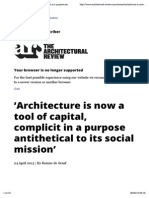 'Architecture is now a tool of capital, complicit in a purpose antithetical to its social mission' | Essays | Architectural Review