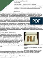 cdc - malaria - about malaria - history