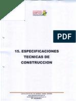 15. Especificaciones Tecni9cas de Construccion