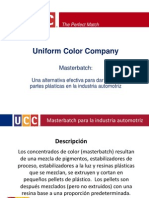 Uniform Color Master Batch