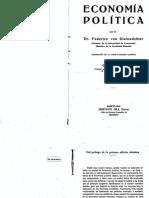 Kleinwachter, Lehrbuch Der Nationalokonomie