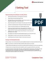 Mechanical Setting Tool Set Run Instructions