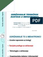 2. Održavanje TS u Mehatronici - Teorijske Podloge